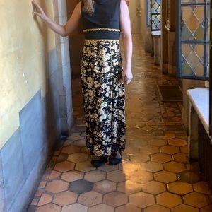 Vintage floor length dress gold